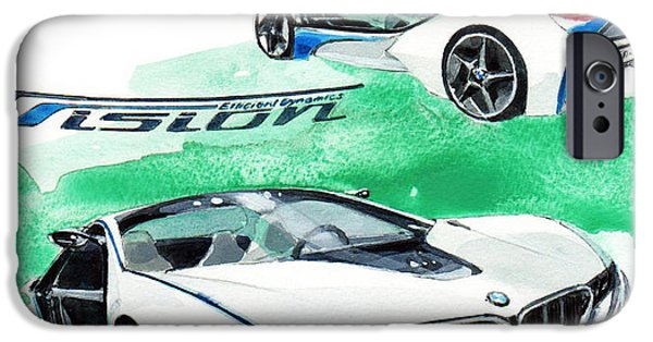 Concept Paintings iPhone Cases - Bmw Vision iPhone Case by Yoshiharu Miyakawa