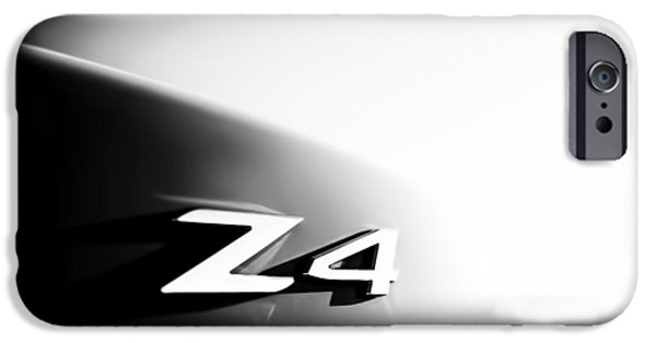 Monotone iPhone Cases - BMW Z4 Badge iPhone Case by Nomad Art And  Design