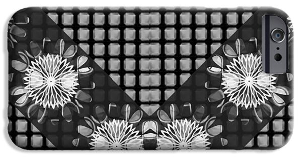 Diy iPhone Cases - BNW Black n White Sparkle Chakra ART Decorations Artist created Images Textures Patterns Background  iPhone Case by Navin Joshi