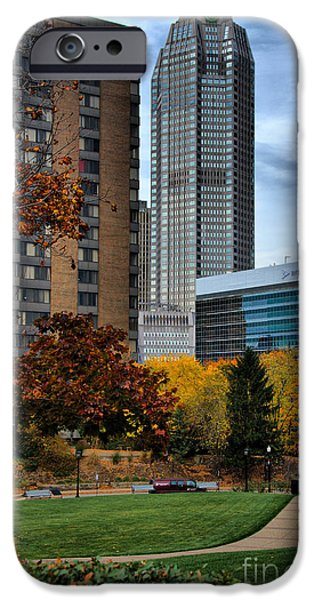 BNY Mellon from Duquesne University Campus HDR iPhone Case by Amy Cicconi