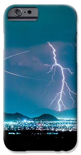 James Bo Insogna iPhone Cases - Bo Trek The Lightning Man iPhone Case by James BO  Insogna