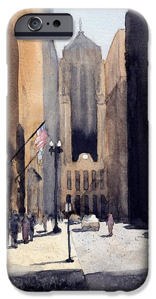 Chicago Paintings iPhone Cases - Board of Trade iPhone Case by Max Good
