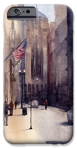 Chicago Paintings iPhone Cases - Board of Trade X iPhone Case by Max Good