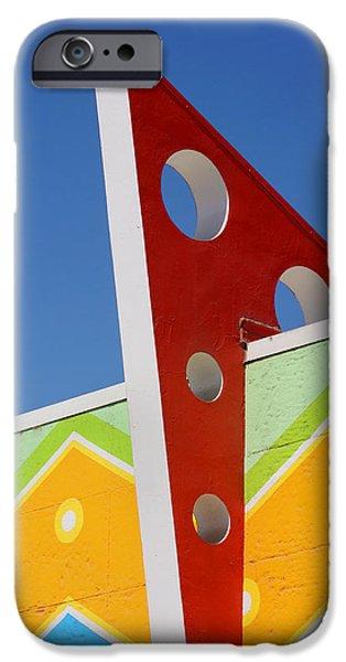 Santa Cruz Art iPhone Cases - Boardwalk Architecture iPhone Case by Art Block Collections