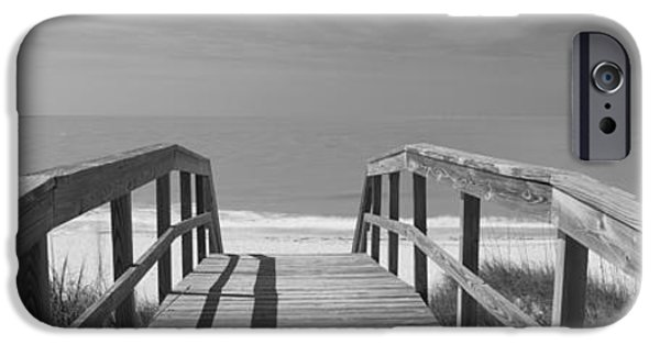 North Sea iPhone Cases - Boardwalk On The Beach, Gasparilla iPhone Case by Panoramic Images