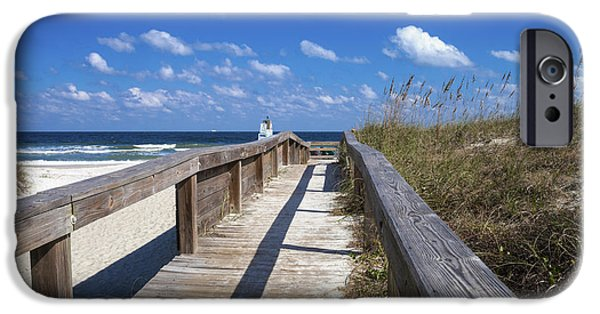 Pathway iPhone Cases - Boardwalk to Paradise iPhone Case by Diane Macdonald