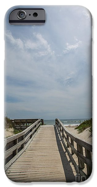 Kaypickens.com iPhone Cases - Boardwalk to the Beach iPhone Case by Kay Pickens