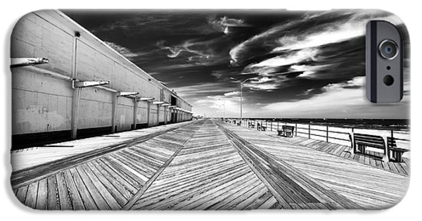 Asbury Park iPhone Cases - Boardwalk Walk iPhone Case by John Rizzuto