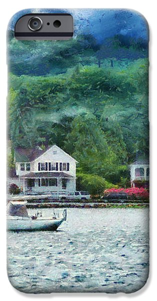 Boat - A good day to sail iPhone Case by Mike Savad