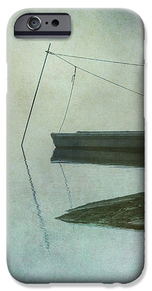 Boat and Dock Taunton River No. 2 iPhone Case by David Gordon