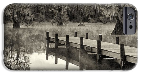 Caddo Lake iPhone Cases - Boat Dock Caddo Lake iPhone Case by Mary Lee Dereske