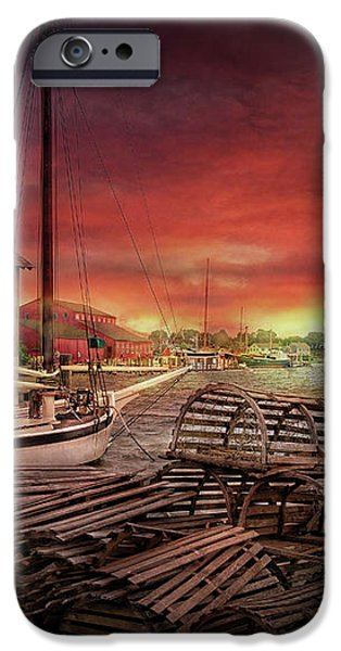 Boat - End of the season  iPhone Case by Mike Savad