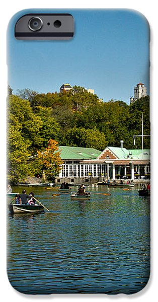 Boat House Central Park New York iPhone Case by Amy Cicconi