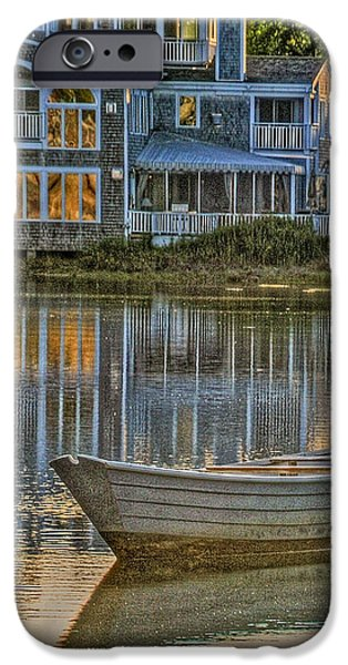 Boat in Late Afternoon iPhone Case by Phyllis Meinke