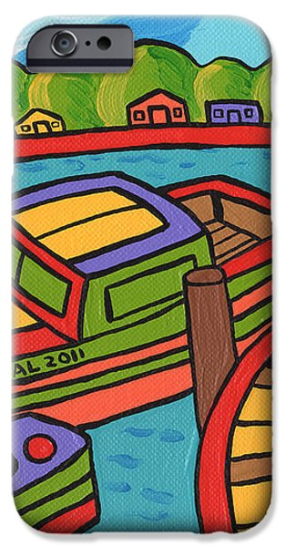 Boat In The Bayou - Cedar Key iPhone Case by Mike Segal
