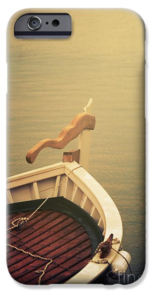 Ocean Pyrography iPhone Cases - Boat iPhone Case by Jelena Jovanovic