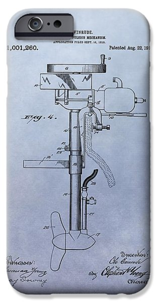 Mechanism Mixed Media iPhone Cases - Boat Propeller Patent Drawing 1911 iPhone Case by Dan Sproul