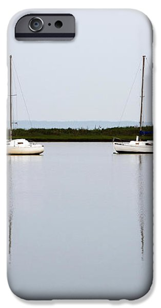 Boat Reflections iPhone Case by John Rizzuto