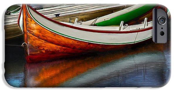 Boston Ma iPhone Cases - Boat iPhone Case by Rick Mosher