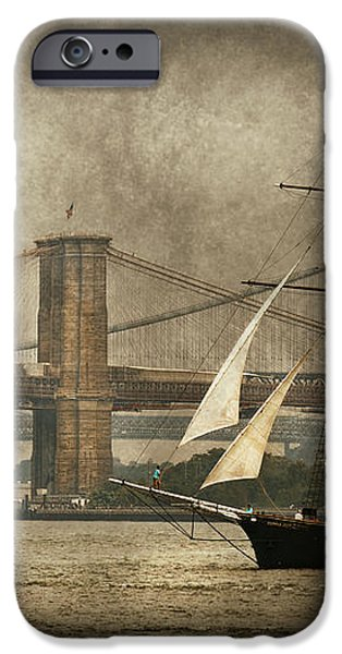Boat - Sailing - Govenors Island NY - Clipper City iPhone Case by Mike Savad