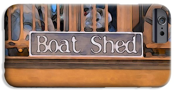 Work Tool Paintings iPhone Cases - Boat Shed 1 iPhone Case by Lanjee Chee