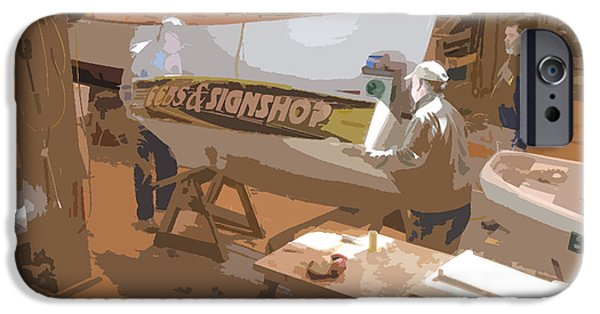Work Tool Paintings iPhone Cases - Boat Shed 4 iPhone Case by Lanjee Chee