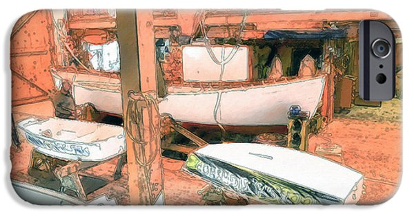 Work Tool Paintings iPhone Cases - Boat Shed 9 iPhone Case by Lanjee Chee
