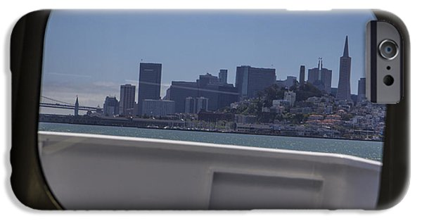 Alcatraz iPhone Cases - Boat to San Fransico  iPhone Case by John McGraw