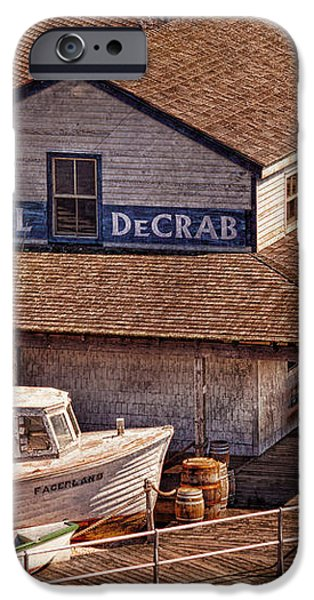 Boat - Tuckerton Seaport - Hotel DeCrab  iPhone Case by Mike Savad