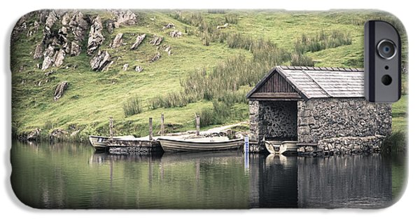Boathouses iPhone Cases - Boathouse iPhone Case by Jane Rix