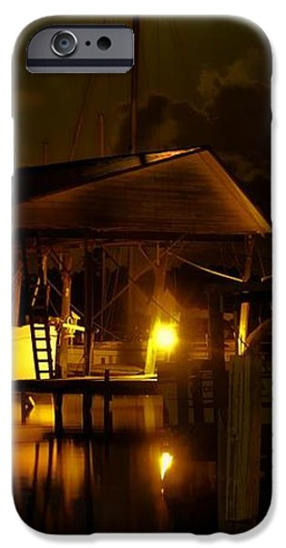 Boathouse Night Glow iPhone Case by Michael Thomas