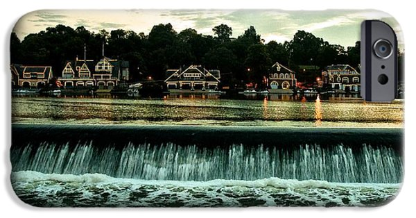 Boathouses iPhone Cases - Boathouse Row and Fairmount Dam iPhone Case by Bill Cannon