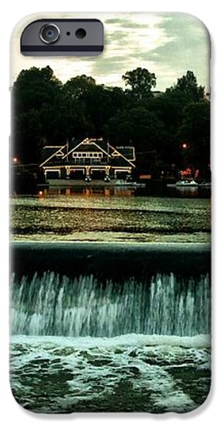 Boathouse Row and Fairmount Dam iPhone Case by Bill Cannon