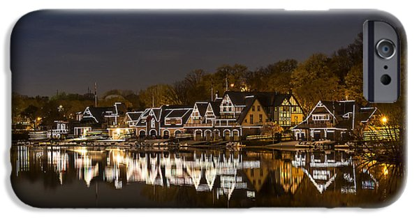 Landmarks Photographs iPhone Cases - Boathouse Row iPhone Case by John Greim