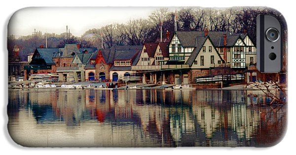 Schuylkill iPhone Cases - BoatHouse Row Philadelphia iPhone Case by Tom Gari Gallery-Three-Photography
