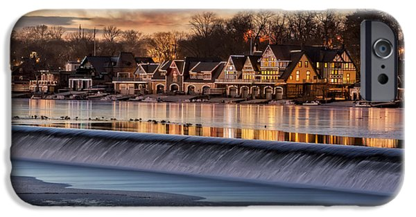Recently Sold -  - Wintertime iPhone Cases - Boathouse Row Philadelphia PA iPhone Case by Susan Candelario