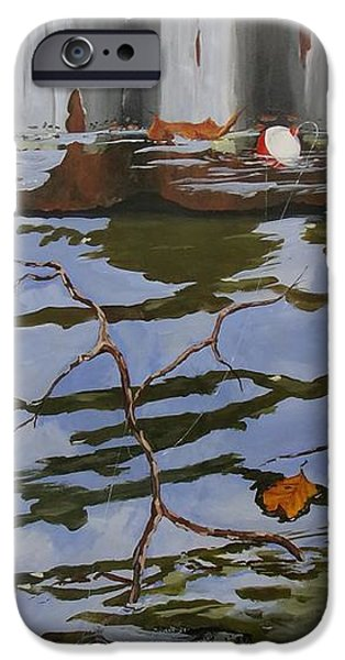 Michael Paintings iPhone Cases - Boathousecrappie B iPhone Case by Michael Dillon