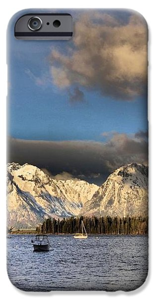 Boating In The Tetons iPhone Case by Dan Sproul
