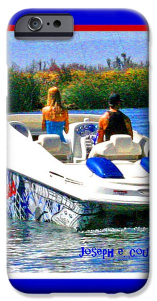 Boating on the Fourth of July iPhone Case by Joseph Coulombe