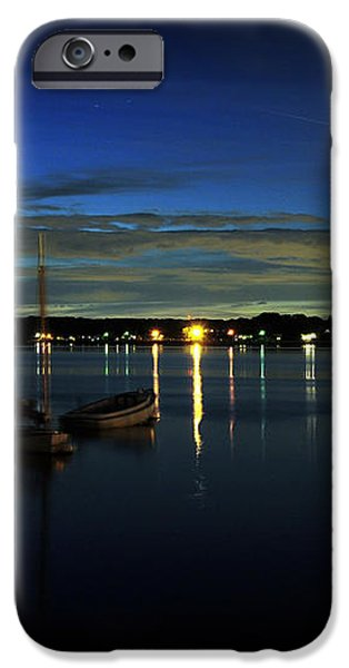 Boating - The Marina at Night iPhone Case by Paul Ward