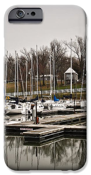 Boats and Cottages on Overcast Day iPhone Case by Greg Jackson