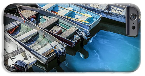 Maine iPhone Cases - Boats at Bar Harbor Maine iPhone Case by Diane Diederich
