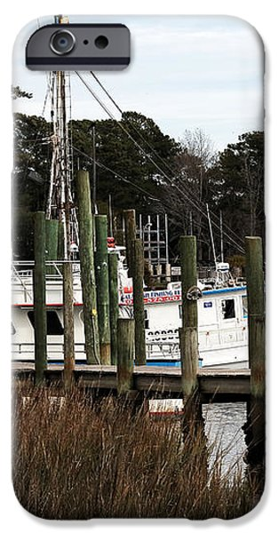 Boats at Little River iPhone Case by John Rizzuto