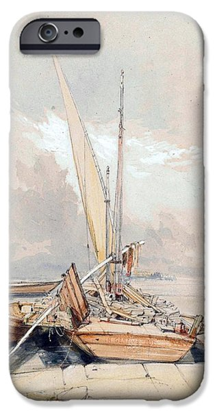 Docked Boat iPhone Cases - Boats at Quayside Lake Geneva iPhone Case by James Holland