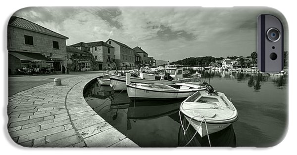 Staris iPhone Cases - Boats at Stari Grad  iPhone Case by Rob Hawkins