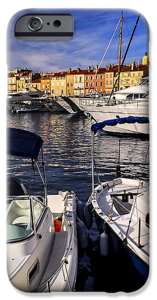 Boats at St.Tropez iPhone Case by Elena Elisseeva