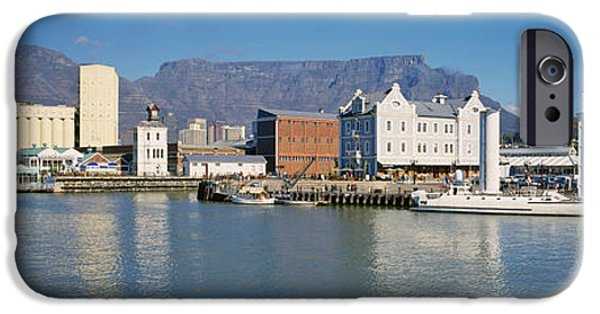 Cape Town iPhone Cases - Boats Docked At A Harbor, Cape Town iPhone Case by Panoramic Images
