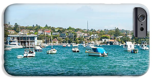 Watson iPhone Cases - Boats Docked At Watsons Bay, Sydney iPhone Case by Panoramic Images