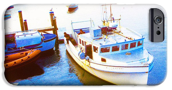Chatham Digital Art iPhone Cases - Boats in Cape Cod Bay Chatham Massachusetts iPhone Case by A Gurmankin