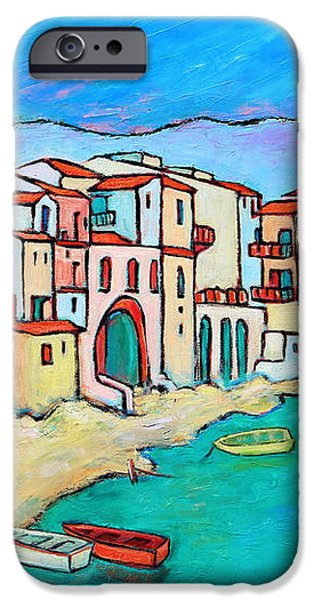 Boats In Front Of Buildings VIII iPhone Case by Xueling Zou